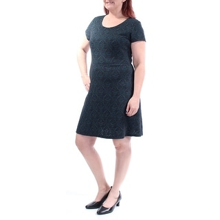 Link to MAISON JULES Green Short Sleeve Above The Knee Sheath Dress  Size XS Similar Items in Dresses