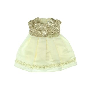 Dorissa Special Occasion Dress Newborn Girls Metallic