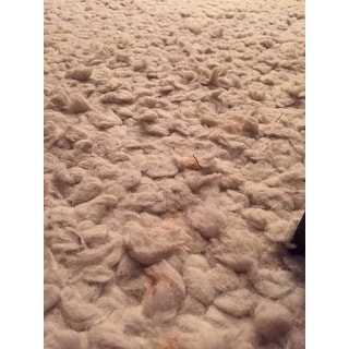 Hand-Woven New Zealand Felted Wool Plush Shag Area Rug-(8' x 10')