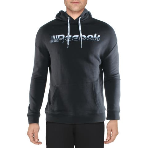Reebok Mens Meet You There Hoodie Sweatshirt Fitness - Black
