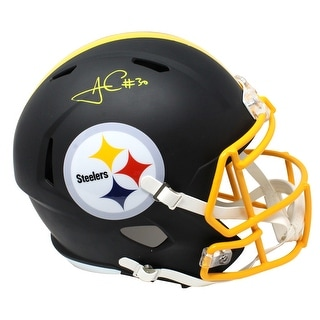 James Conner Pittsburgh Steelers Flat Black Matte Riddell Speed Full Size Replica Helmet