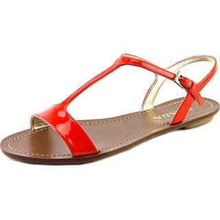 Prada 1X669D Women Open-Toe Patent Leather Slingback Sandal