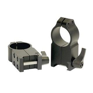 Warne Scope Mounts Warne 1 Inch Quick Detach Ultra High Rings Matte 204LM - 204LM