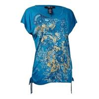 Style & Co Women's Ruched Hem Glamorous Blouse - fall medallions