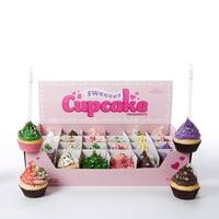 """Club Pack of 24 Cupcake Heaven with Sprinkles Christmas Ornaments 2.75"""" - PInk"""