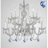 Empress Crystal (Tm) Chandelier with Blue Color Crystal