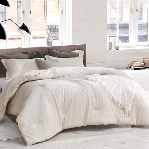 White Sandy Beaches Oversized Comforter - 100% Yarn Dyed Cotton