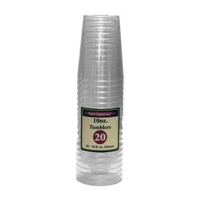 Clear Plastic Tumbler Glasses 10 oz 20 Count - Multi