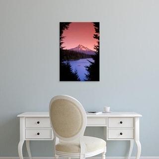 Easy Art Prints Janis Miglavs's 'Canoeing On Lost Lake' Premium Canvas Art