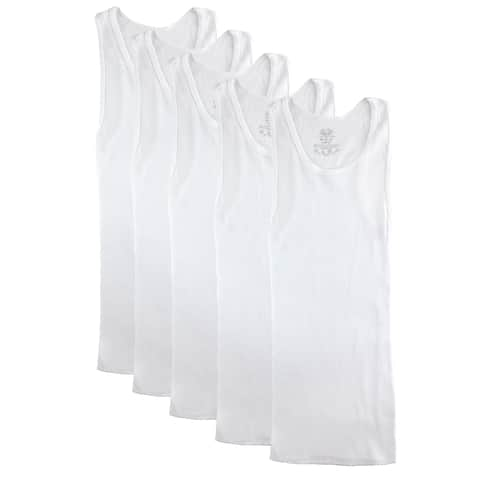 Fruit of the Loom Boy's Cotton Ribbed A Shirts (Pack of 5)