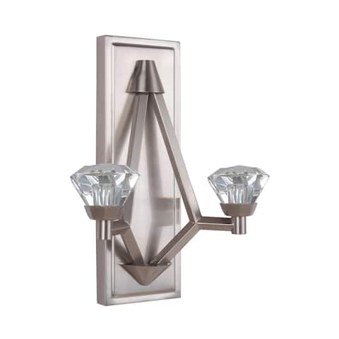 """Craftmade 49762-LED Radiante 14-1/4"""" Tall Integrated LED Wall Sconce - Brushed Polished Nickel"""