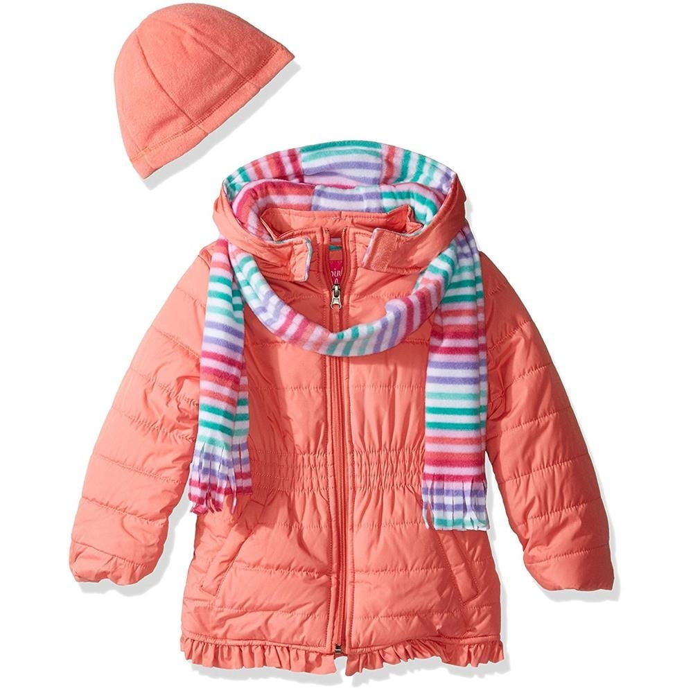 f0a75a354d34 Shop Pink Platinum Girls 2T-4T Solid Winter Jacket - mint - Free ...
