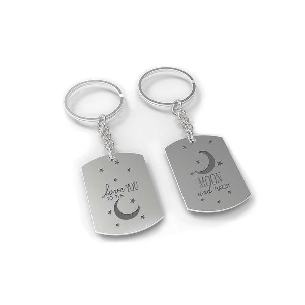 69fd1ba94cb I Love You to the Moon and Back Couple Key Chain Set - His and Hers Key  Rings