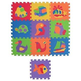 Edu Tiles Foam Floor Puzzle 10 Piece Set