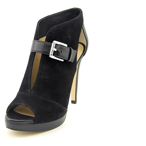 7ebed25003eb MICHAEL Michael Kors Womens Isabella Bootie Leather Peep Toe Classic Pumps