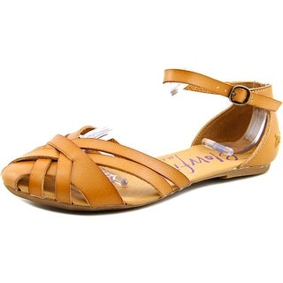 Blowfish Fritzi Women Round Toe Synthetic Tan Flats