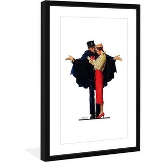 Marmont Hill Lost in Paris - Framed Print Norman Rockwell Painting Print in Frame