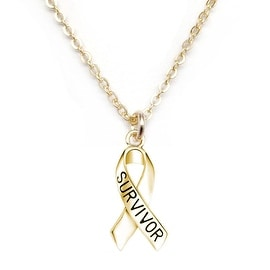 Julieta Jewelry 'Survivor' Ribbon Charm Necklace