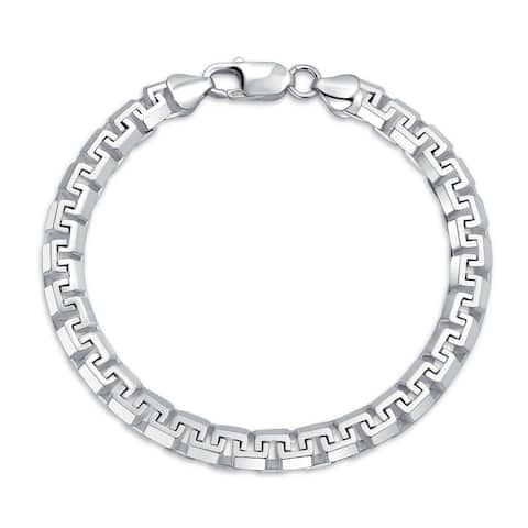 Solid Heavy Strong Franco Square Link Chain Bracelet Sterling Silver - 9