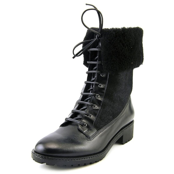 Via Spiga Evi Round Toe Leather Winter Boot