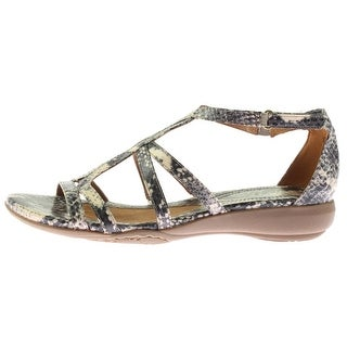Naturalizer Womens Colleen Wedge Sandals Faux Leather Snake Print - 9 narrow (aa,n)