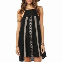 O'Neill Black Women's Size XS Crochet Insert Trim Shift Dress