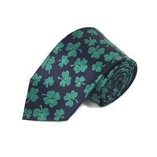 Men's St. Patrick's Day Shamrock Clovers Neck tie Holiday Gift