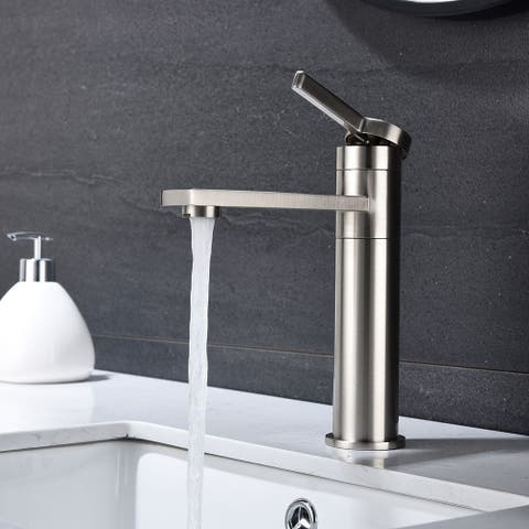 """Global Pronex 360-Degree Rotating Bathroom Sink Faucet Single Handle Stainless Steel Faucet - 16.1"""""""
