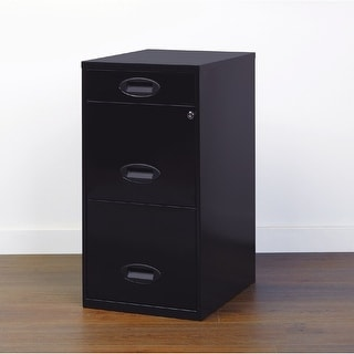 Space Solutions 3-drawer Black Metal Organizer File Cabinet