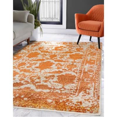 LoomBloom Persian Polypropylene Este Traditional Oriental Area Rug Ivory, Beige Color