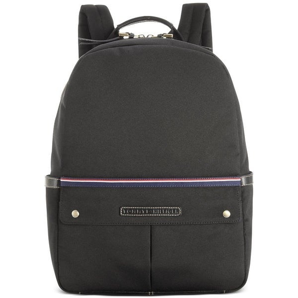 Tommy Hilfiger Mens Ethan Backpack Leather Trim Colorblock