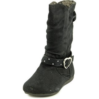 Sarah Jayne Rorie Infant Round Toe Synthetic Black Mid Calf Boot