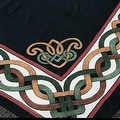 Handmade 100% Cotton Celtic Wheel of Life Tapestry Bedspread Twin 70x104 and Full 88x104 in Black Tan & Black Purple colors - Thumbnail 8