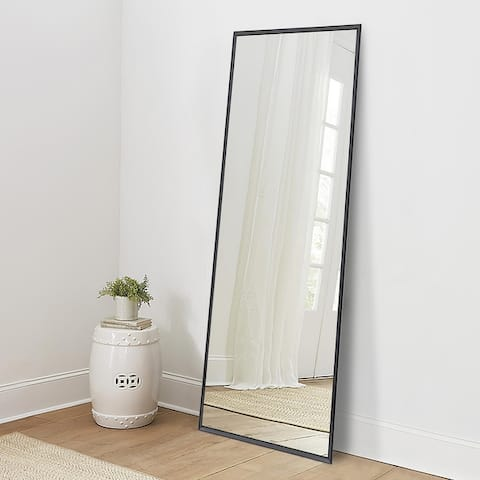 Carson Carrington Salmijarvi Wide Frame Full Length Floor Mirror with standing