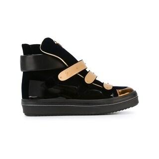 Giuseppe Zanotti Men's Navy Space Velvet High Top Sneakers