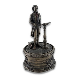 Bronzed Music Box Symphony No. 9 Beethoven