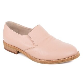 Brunello Cucinelli Light Pink Leather Derby Slip On Shoes