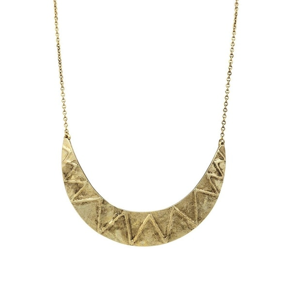 House Of Harlow 1960 Womens Collar Necklace Antiqued Zig Zag - Gold