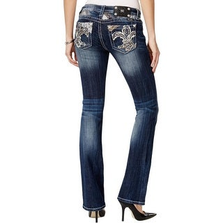 Miss Me Womens Bootcut Jeans Embellished Bootcut - 25