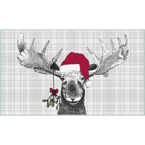 Mohawk Home Holiday Moose Area Rug
