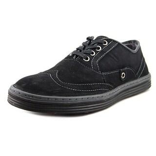 Steve Madden Waisst Men Wingtip Toe Leather Black Oxford