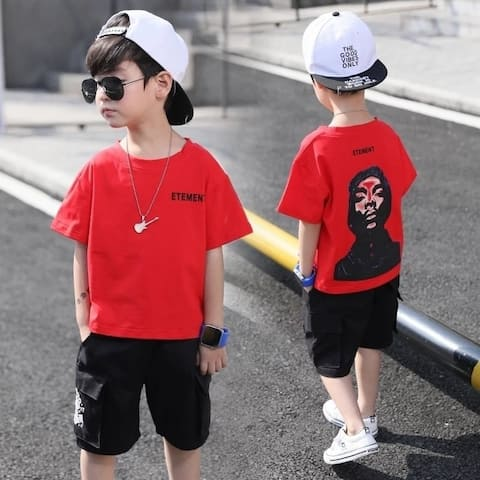 2018 Summer The New Boy Cotton Short Sleeve Casual Two Sets