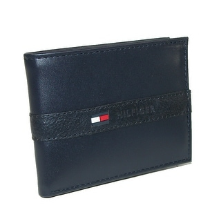 Tommy Hilfiger Men's Leather Ranger Passcase Billfold Wallet - One Size