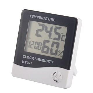 Indoor Digital LCD Alarm Clock Temp Humidity Meter Thermometer Hygrometer