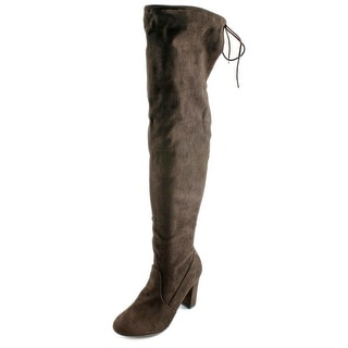 Chinese Laundry Bachelorette Round Toe Suede Over the Knee Boot