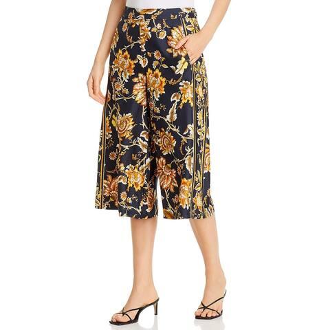 Kobi Halperin Womens Anetta Pants Silk Floral Print - Black Multi