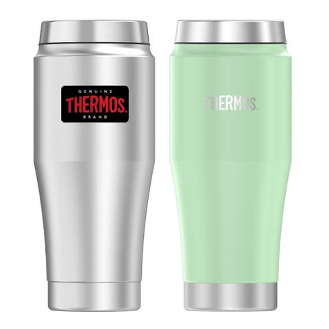 Thermos 16 Oz Steel Travel Tumbler 2PK - S/S and Matte Frosted Mint - 16 Oz