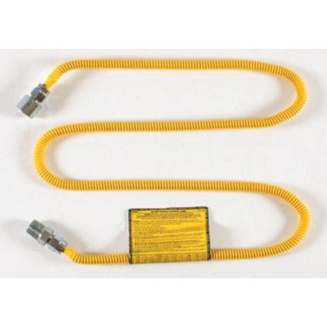 BrassCraft CSSL54-60 Gas Connector, 1/4 x Id x 1/2 Fip x 1/2 Mip