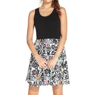 Erik + Lani Womens Juniors Casual Dress Printed Sleeveless - S
