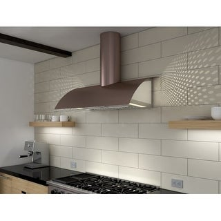 Zephyr COK-E36BX 36 Inch Wide Wall Mounted Range Hood Less Blower from the Okeanito Limited Edition Series